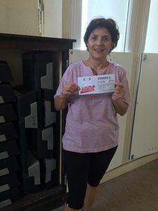 Félicitations à Martine qui a remporté le 1er lot : Forfait annuel intégral